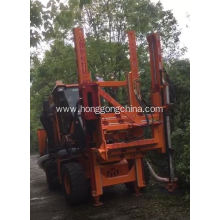 Multifunctional Pile Driver for Post Mounting